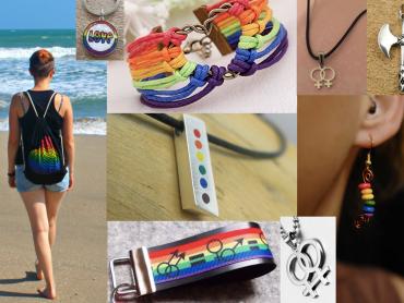 Lesben Symbole, Rainbowfeelings, lesbische Zeichen, Lesben erkennen, Lesben Accessoires